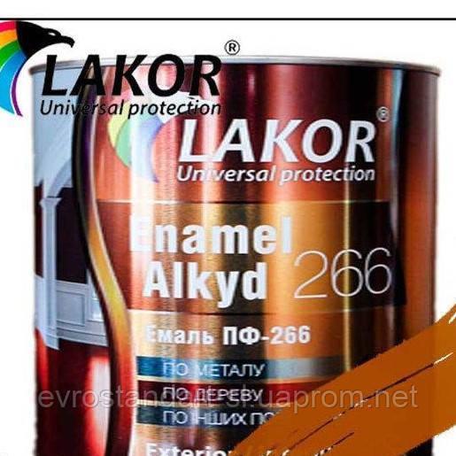 Эмаль Лакор ПФ-266 К Желто-коричневая 2,8кг.