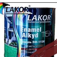 Эмаль Лакор ПФ-266 К красно-коричневая 2,8кг.