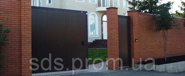 Откатные ворота из сендвич-панелей Doorhan