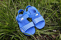 """Детские резиновые сандалики """"Спорт"""" синие, размеры 25-30"""