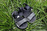 """Детские резиновые сандалики """"Спорт"""" черные, размеры 25-30"""