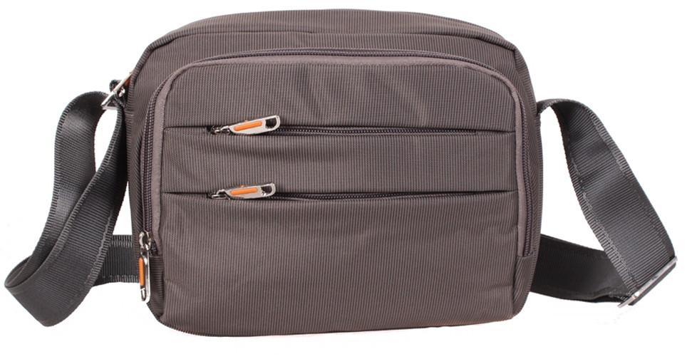 Стильная мужская сумка через плечо полиэстер M6338-2GREY серый