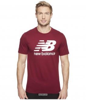 Мужская футболка New Balance бордовая (люкс копия) - Интернет-магазин  спортивной обуви одежды 75a1fc76481