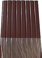 Профнастил ПС-8 Альбатрос, цвет: шоколад, 1,5м Х 0,95м, 9-ть волн, в пленке