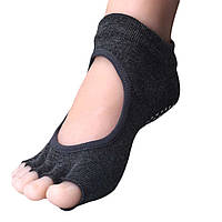 Носки для йоги темно-серый