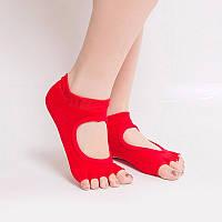 Носки для йоги красный