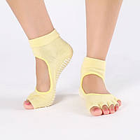 Носки для йоги желтый