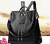 Стильный женский рюкзак чёрный