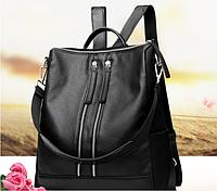 Стильный женский рюкзак чёрный, фото 1