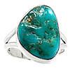 """Яркий перстень с натуральной природной бирюзой """"Бирюзовый"""", размер 17.5 от студии LadyStyle.Biz"""