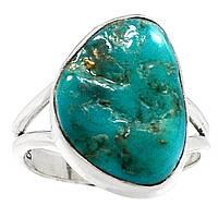"""Яркий перстень с натуральной природной бирюзой """"Бирюзовый"""", размер 17.5 от студии LadyStyle.Biz, фото 1"""