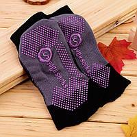 Носки для йоги Yoga Socks черно-серый