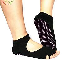 Носки для йоги PinkDots черный