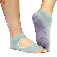 Носки для йоги PinkDots серый