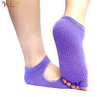 Носки для йоги PinkDots фиолетовый