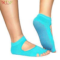 Носки для йоги PinkDots голубой