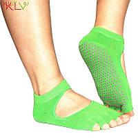 Носки для йоги PinkDots зеленый