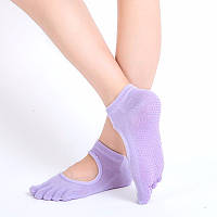Носки для йоги Yoga Socks с закрытыми пальцами лаванда