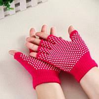 Перчатки для йоги малина