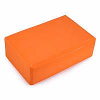 Йога Блок Yoga Block для йоги и растяжки Акция оранжевый