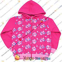 Кофты с начесом Малинового цвета для девочек от 5 до 8 лет (3829-2)