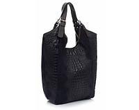 Женская сумка Vera Pelle (0201 dark blue) leather