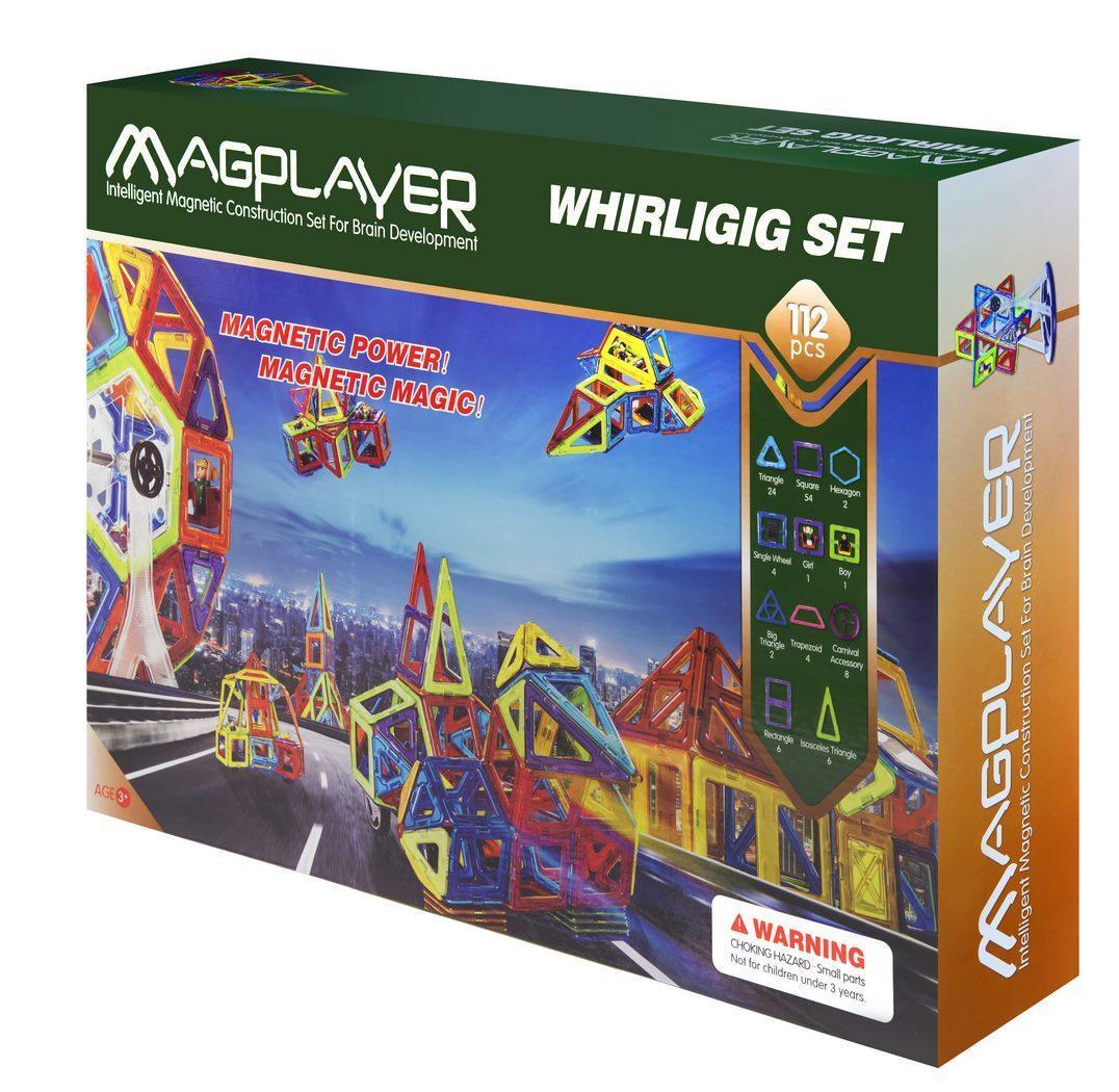 Конструктор Magplayer магнитный набор 112 эл. MPB-112