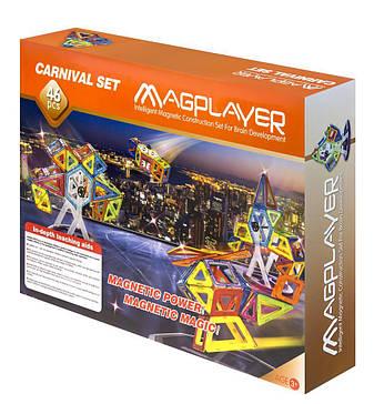 Конструктор Magplayer магнитный набор 46 эл. MPB-46, фото 2