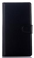 Кожаный чехол-книжка для  Lenovo P70 черный