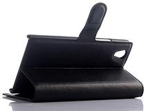 Кожаный чехол-книжка для  Lenovo P70 черный, фото 3