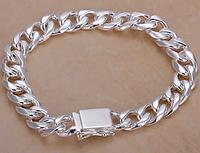 Серебрянный браслет 10мм 925 проба (покрытие)