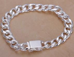 Срібний браслет 10мм 925 проба (покриття)