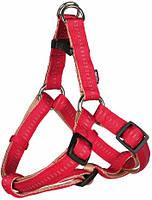 1165/4 Trixie Шлейка Softline Elegance One Touch Harness Красная, 30-40см/10мм