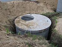 Выгребные ямы устройство. Сточные ямы строительство. Сливные ямы монтаж. Киев устройство колодцев., фото 1