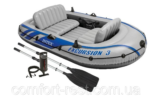 Трехместная надувная лодка Excursion 3 Intex 68319 - Комфорт и Отдых в Харькове