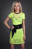 Платье женское модель №215-3, размеры 44,46,48 лимонное