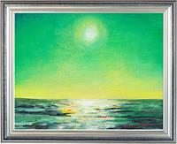 Зеленое солнце. Холст, акрил, 24х30