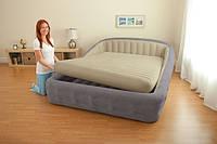 Надувная двуспальная кровать Intex 67972 + Электронасос 220W(241х193х76), фото 1