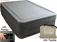 Надувная двуспальная кровать Intex 64418 (152-203-56 см.) + встроенный электронасос 220W