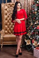 Платье беби долл красное