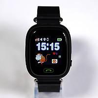 Детские умные GPS часы Q90 / ЧЕРНЫЕ / Гарантия 12 мес