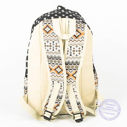Рюкзак для девочек школьный/городской звездочки - черный - 6501, фото 2