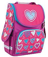 """Рюкзак школьный каркасный Blue heart 553320, ТМ """"Smart"""""""