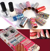 Маникюрный набор Fab Foils для дизайна ногтей, украшения для ногтей