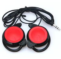 Наушники накладные 3,5 mm, красные