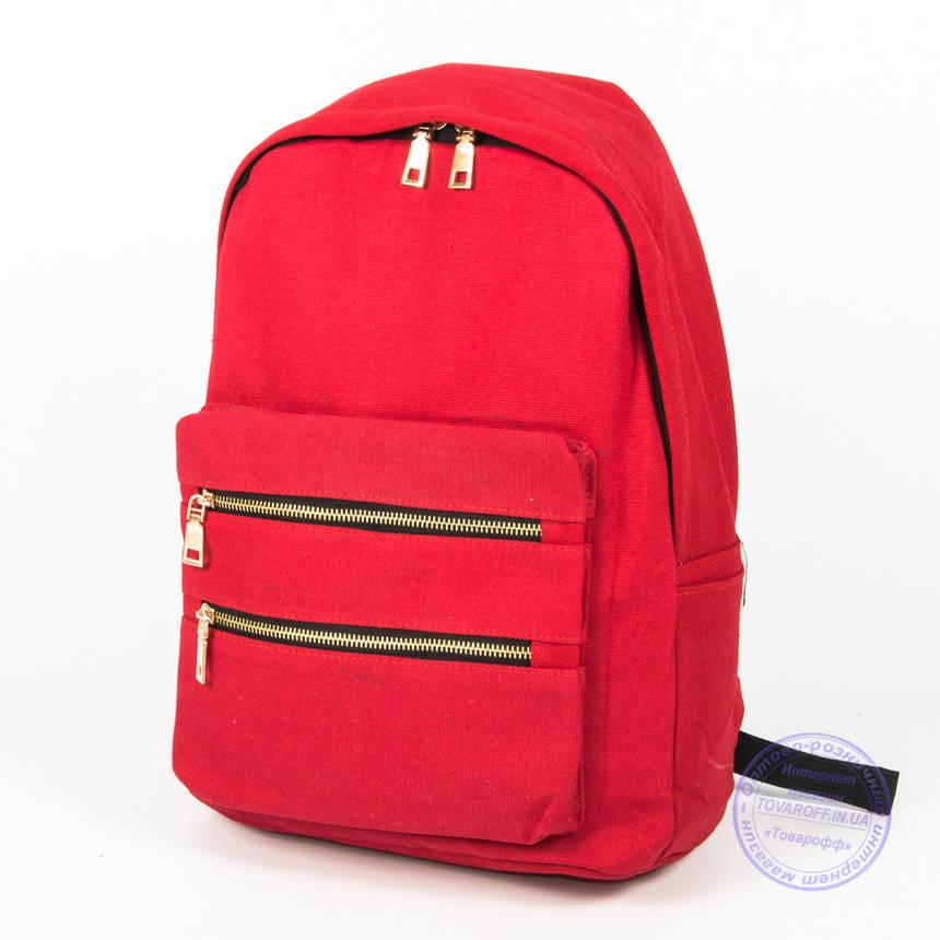 Рюкзак для девочек школьный/городской - красный - 6876, фото 2