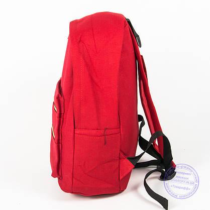 Рюкзак для девочек школьный/городской - красный - 6876, фото 3