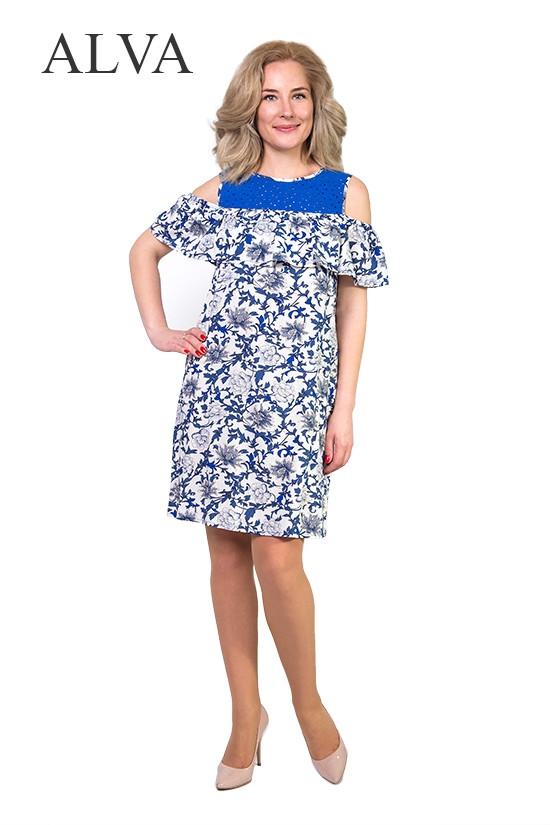 Модное женское платье свободного кроя.Разные цвета.