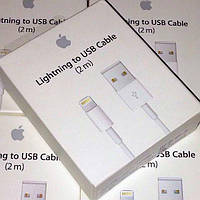 Кабель iPhone Lightning USB 2m шнур APPLE 5\5s\5c\6\6s\6plus\7 original в упаковке