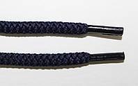 Шнурки круглые 6мм плотные, темно синий